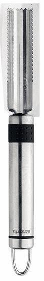 Нож для яблок Brabantia. 211027211027Нож для яблок Brabantia предназначен для чистки и обработки яблок. Нож выполнен из нержавеющей стали, имеет удобную ручку и его можно мыть в посудомоечной машине. Удобная ручка и качественная сталь лезвия делают такой нож хорошим инструментом для ежедневной работы на кухне. «Если хотите сэкономить, лучше купить один классный нож... Один небольшой, универсальный, которым можно делать буквально все. Еще один чуть побольше - резать хлеб, разбираться с мясом, разделывать курицу. Ну и маленький нож, которым можно почистить овощи, снять цедру, что-то измельчить.»