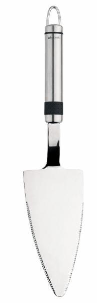 Лопатка для пирожного Brabantia. 385421385421Лопатка для пирожного Brabantia изготовлена из высококачественной стали. Широкая рабочая поверхность позволяет порционно раскладывать на тарелки торты, пирожные, кексы и другую выпечку. Ручка оснащена небольшой петелькой, за которую лопатку можно подвесить в любом удобном для вас месте. Лопатка для пирожного Brabantia займет достойное место среди аксессуаров на вашей кухне.