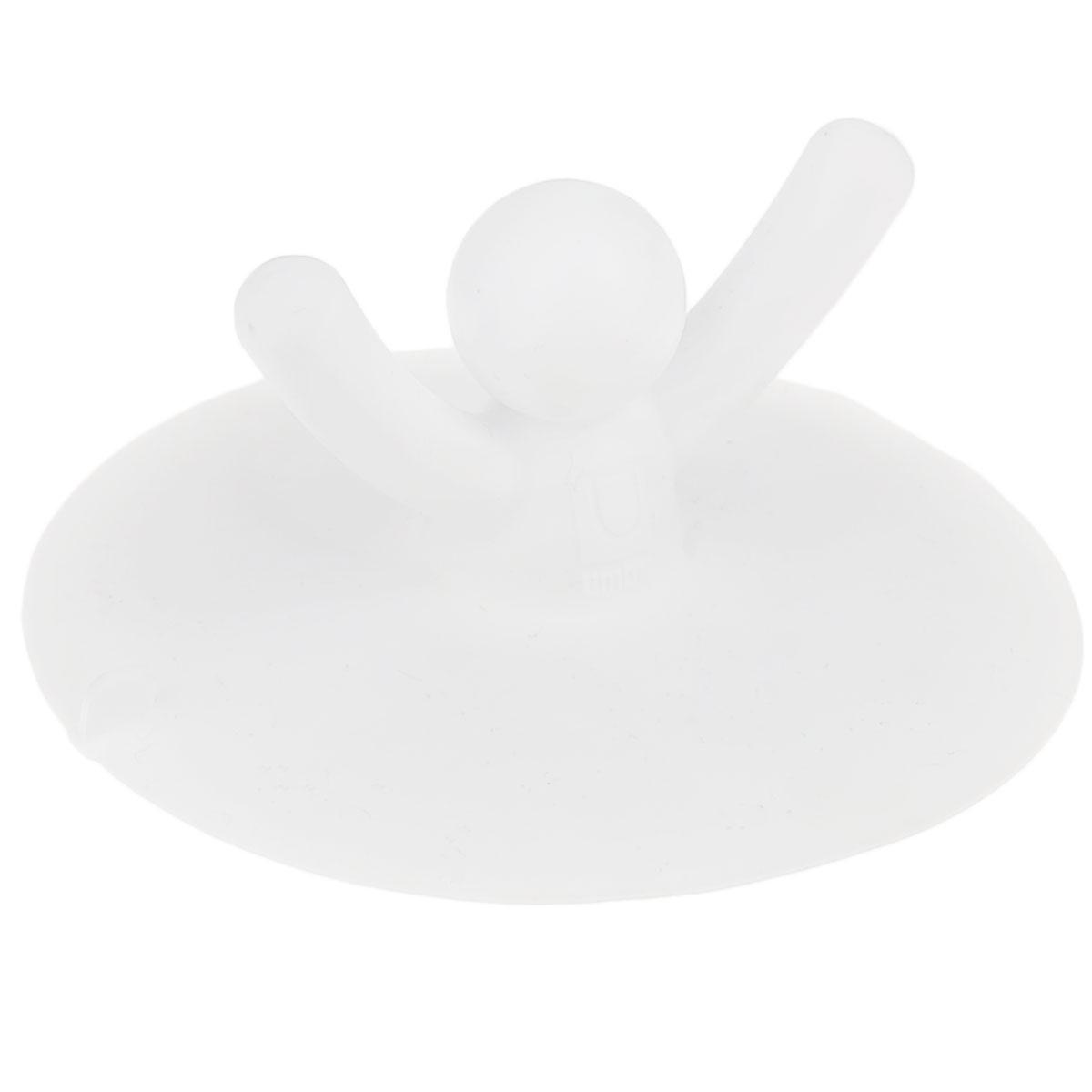 Пробка для раковины Umbra Buddy, цвет: белый023009-660Пробка для ванны Umbra Buddy, изготовленная из полипропилена, предназначена для закупоривания сливного отверстия ванной или раковины. Пробка выполнена в виде человечка с поднятыми вверх руками. Потянув за человечка, вы легко вытащите пробку из ванны. Этот оригинальный аксессуар станет приятным дополнением к интерьеру ванной комнаты.