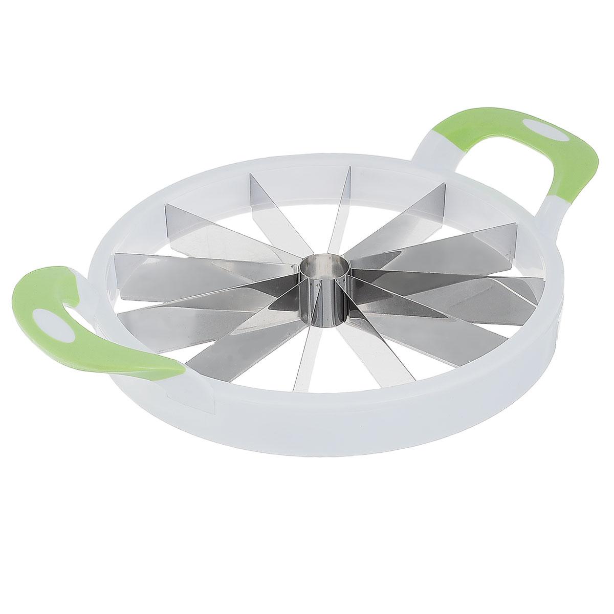 Мультирезка Bradex ДолькаTK 0123Идеальные кусочки за 12 секунд - реальность с мультирезкой Bradex Долька. Одного простого движения достаточно, чтобы разрезать арбуз на аппетитные, ровные дольки. Острые ножи из нержавеющей стали одинаково аккуратно режут как фрукты и овощи, так и выпечку. Легким прибором можно нарезать не только крупные продукты. Мультирезка спроектирована таким образом, чтобы дыню можно было нарезать также просто, как и яблоко. С Долькой можно не боятся порезов.