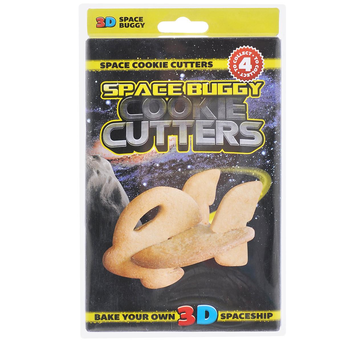 Форма для печенья 3D Suck UK Корабль, цвет: желтыйSK COOKIESPACE43D форма для печенья Suck UK Корабль, изготовленная из высококачественного и прочного пластика, состоит из пяти составных частей, которые позволяют собрать объемную фигуру в виде космического корабля. С такой формой легко и просто вырезать фигурное тесто для приготовления домашнего печенья. Форма для печенья Suck UK Корабль вдохновит вас и вашего ребенка на кулинарные шедевры. Можно мыть в посудомоечной машине.