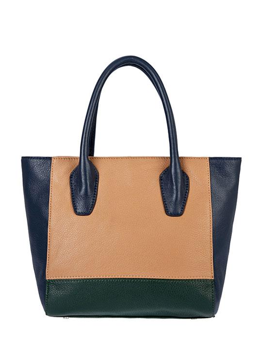 Сумка женская Palio, цвет: светло-бежевый, синий, зеленый. 12889AS1-W212889AS1-W2Изысканная женская сумка Palio выполнена из натуральной кожи и декорирована вставками контрастного цвета. Изделие закрывается на застежку-молнию. Внутри - одно отделение, в котором имеется плоский карман на застежке-молнии, два кармашка для телефона и мелочей. Дно защищено от повреждений металлическими ножками. В комплекте чехол для хранения и съемный плечевой ремень регулируемой длины. Роскошная сумка внесет элегантные нотки в ваш образ и подчеркнет ваше отменное чувство стиля.