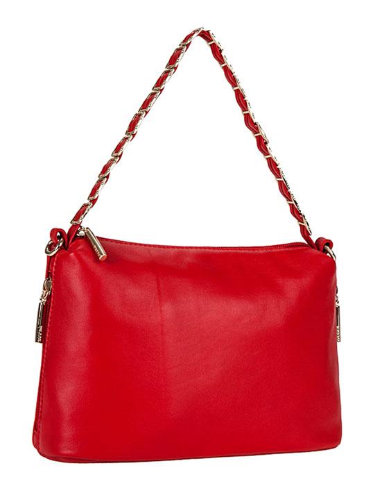 Сумка женская Palio, цвет: красный. 29132913Элегантная женская сумка Palio выполнена из натуральной кожи. Модель закрывается на застежку-молнию. Внутри - одно отделение, разделенное средником на застежке-молнии, также есть плоский втачной карман на застежке-молнии, два накладных кармашка для телефона и мелочей. Сумка дополнена двумя боковыми кармашками на застежках-молниях. Основное украшение приходится на ручку: здесь кожаный ремешок аккуратно продет сквозь металлическую цепочку с крупными квадратными звеньями. В комплекте чехол для хранения и плечевой отстегивающийся ремешок, регулируемой длины. Привлекательная сумка внесет элегантные нотки в ваш образ и подчеркнет ваше отменное чувство стиля.