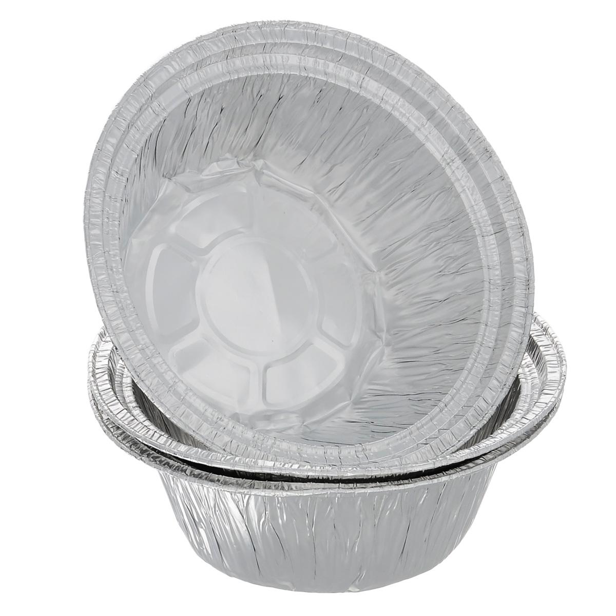 Набор форм для запекания Home Queen, диаметр 18,5 см, 3 шт57224Набор Home Queen, выполненный из алюминиевой фольги идеально подходит для кексов, пирогов. Форма обладает всеми свойствами обычной фольги для запекания: гигиеничная, легкая, прочная, теплопроводная. Также формы можно использовать для запекания, для хранения и заморозки продуктов. Диаметр формы: 18,5 см. Высота формы: 7 см. Количество форм: 3 шт.