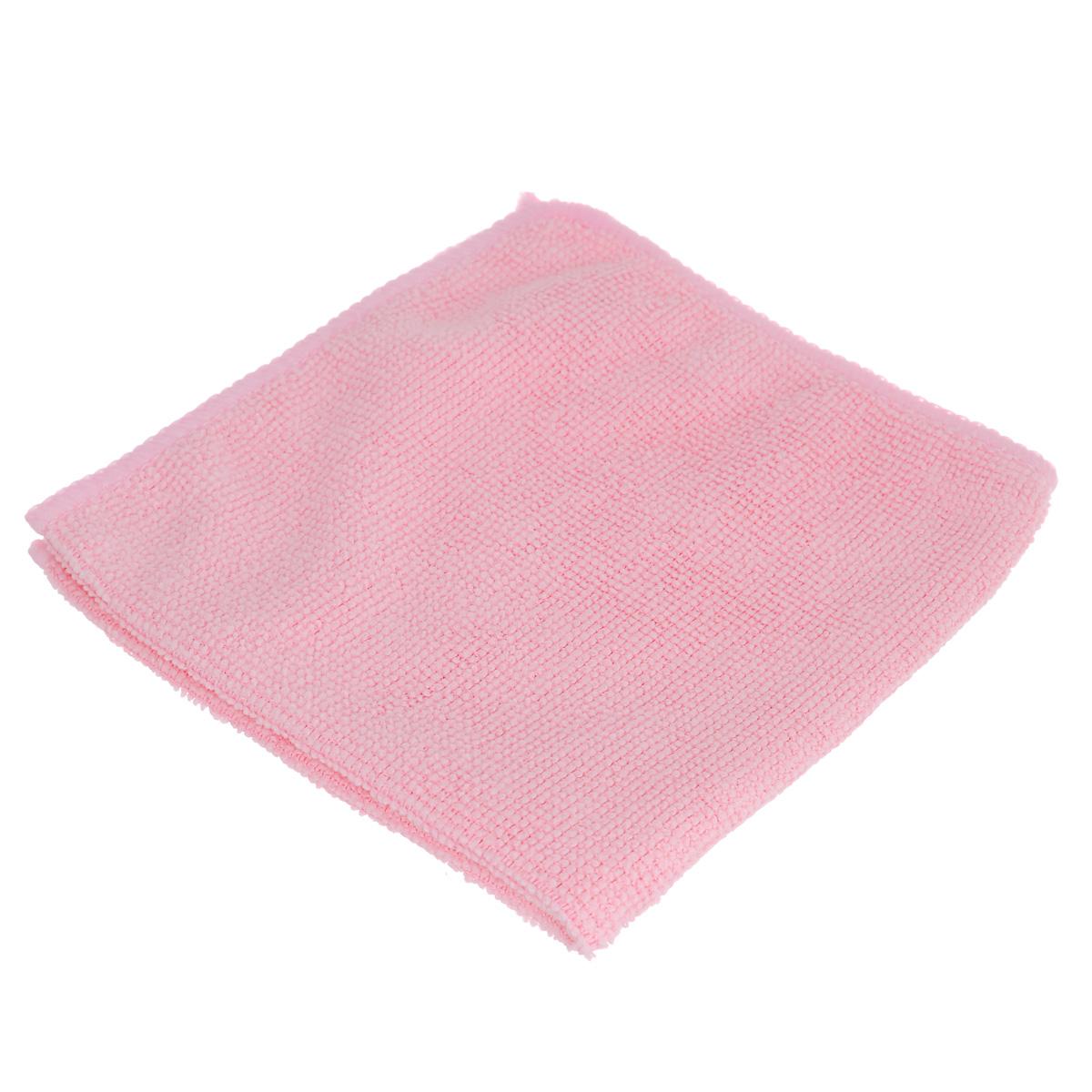 Салфетка из микрофибры Home Queen, цвет: розовый, 30 х 30 см50308Салфетка Home Queen, изготовленная из полиамида и полиэфира, предназначена для очищения загрязнений на любых поверхностях. Изделие обладает высокой износоустойчивостью и рассчитано на многократное использование, легко моется в теплой воде с мягкими чистящими средствами. Супервпитывающая салфетка не оставляет разводов и ворсинок, удаляет большинство жирных и маслянистых загрязнений без использования химических средств. Размер салфетки: 30 см х 30 см. Материал: 30% полиамид, 70% полиэфир.