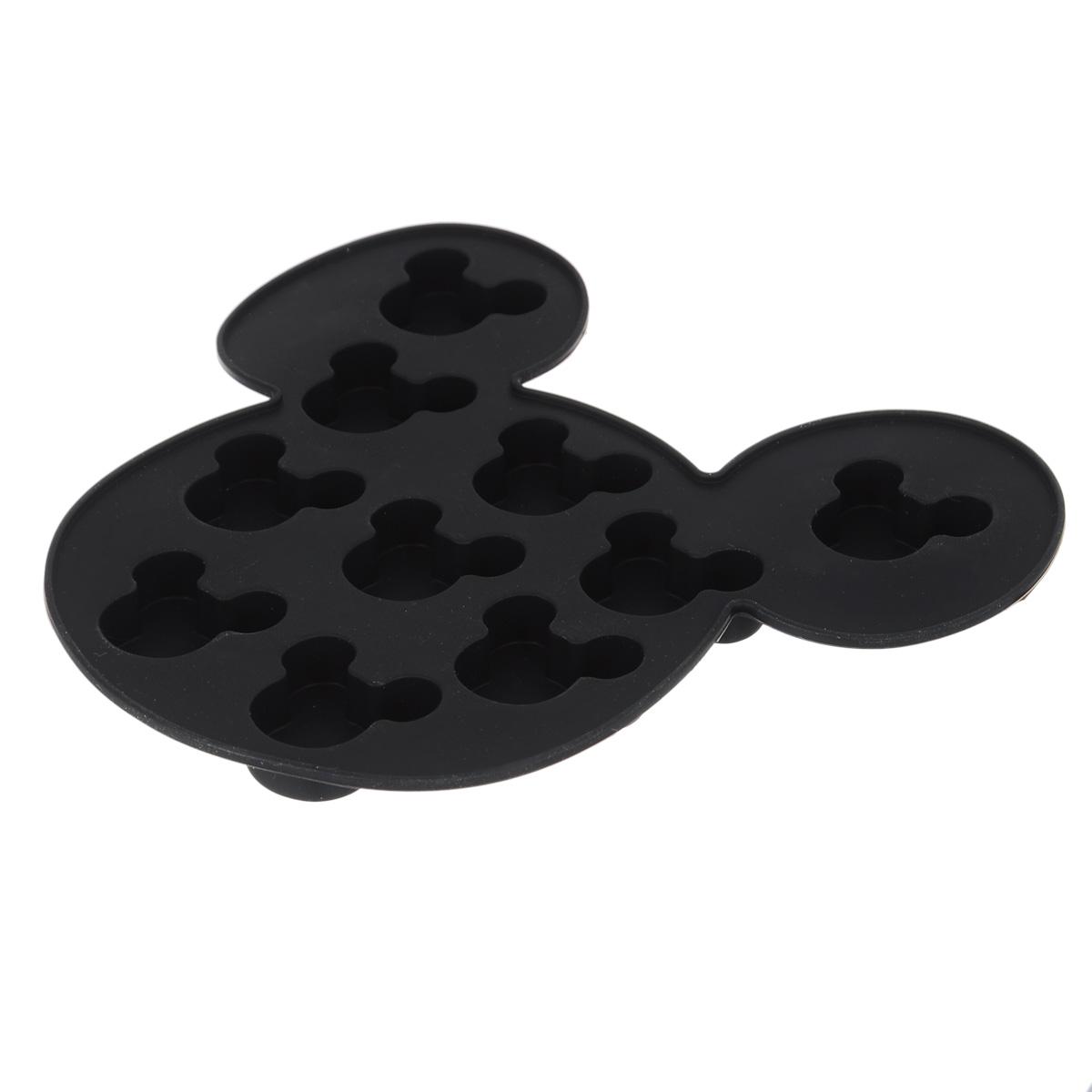 Форма для льда Disney Микки Маус, цвет: черный, 10 ячеек61132Форма Disney Микки Маус выполнена из высококачественного пищевого силикона и предназначена для изготовления шоколада, конфет, мармелада, желе, льда и выпечки. На одном листе расположено 10 ячеек в виде мордочек Микки Мауса. Благодаря тому, что форма изготовлена из силикона, готовый десерт вынимать легко и просто. Силиконовые формы выдерживают высокие и низкие температуры (от -40°С до +230°С). Они эластичны, износостойки, легко моются, не горят и не тлеют, не впитывают запахи, не оставляют пятен. Силикон абсолютно безвреден для здоровья. Чтобы достать льдинки, эту форму не нужно держать под теплой водой или использовать нож. Можно использовать в микроволновой печи, мыть в посудомоечной машине и хранить в холодильнике. Упаковка содержит описание рецептов ягодного льда и шоколадных конфет. Общий размер формы: 16 х 15 х 1,5 см. Количество ячеек: 10 шт. Размер ячеек: 3 х 2,5 х 1 см.