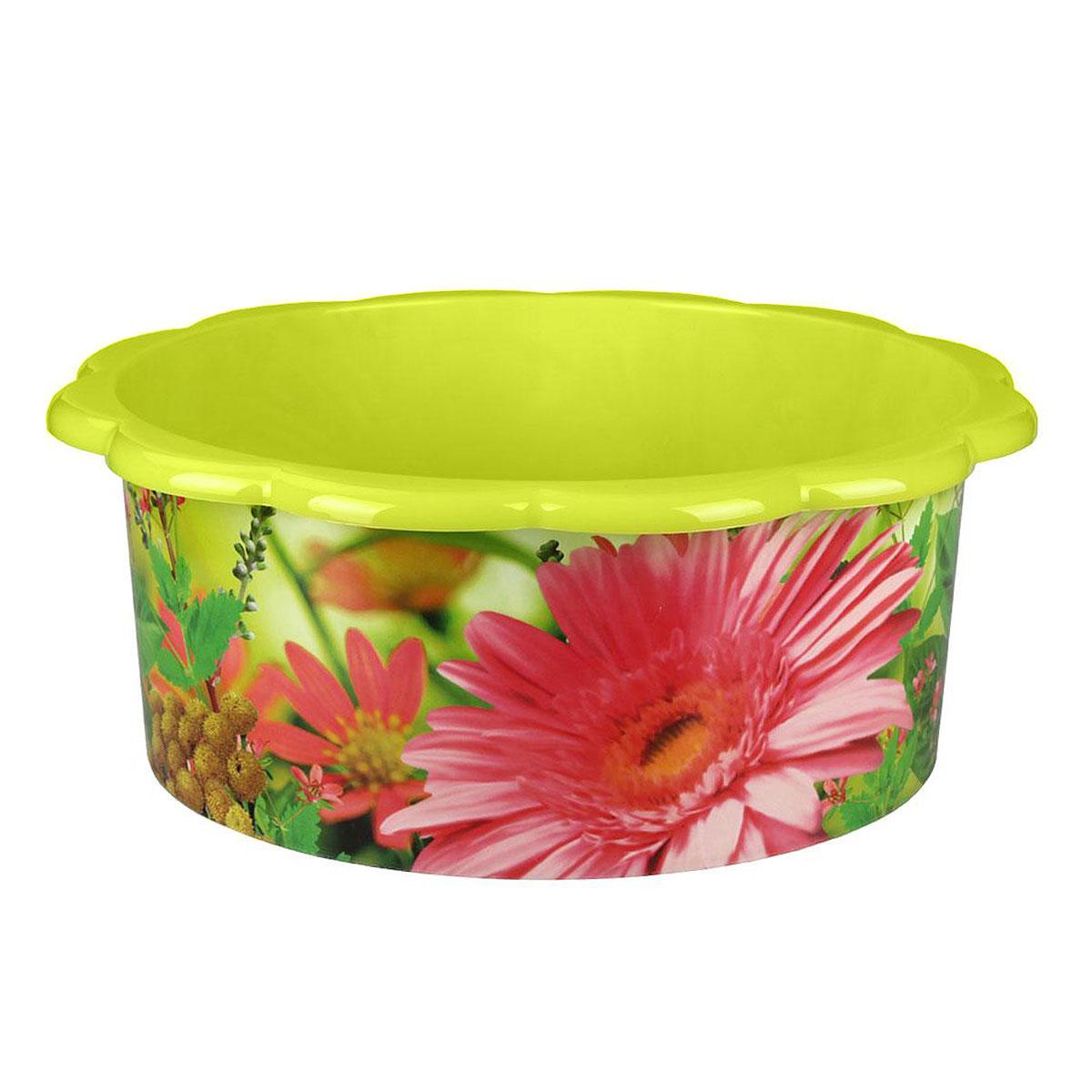 Таз Поэзия весны, цвет: салатовый, 20 лМ3106Таз Поэзия весны изготовлен из высококачественного пластика. Он выполнен в классическом круглом варианте. По бокам имеются удобные углубления, которые обеспечивают удобный захват. Таз предназначен для стирки и хранения разных вещей. Он пригодится в любом хозяйстве.