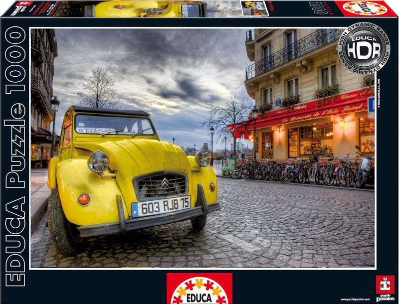 Сумерки в Париже. Пазл, 1000 элементов15526Пазл Сумерки в Париже, без сомнения, придется вам по душе. Собрав этот пазл, включающий в себя 1000 элементов, вы получите великолепную цветную картину с изображением наступающего в Париже вечера. На заднем плане изображено здание с уютным кафе, а на переднем - желтый автомобиль, контрастирующий с общим настроением картины. В комплект входит специальный клей, представляющий собой порошок, который перед применением требуется развести водой. Он надежно склеивает собранный пазл и не оставляет следов на поверхности картинки. Пазлы - прекрасное антистрессовое средство для взрослых и замечательная развивающая игра для детей. Собирание пазла развивает у ребенка мелкую моторику рук, тренирует наблюдательность, логическое мышление, знакомит с окружающим миром, с цветом и разнообразными формами, учит усидчивости и терпению, аккуратности и вниманию. Собирание пазла - прекрасное времяпрепровождение для всей семьи.