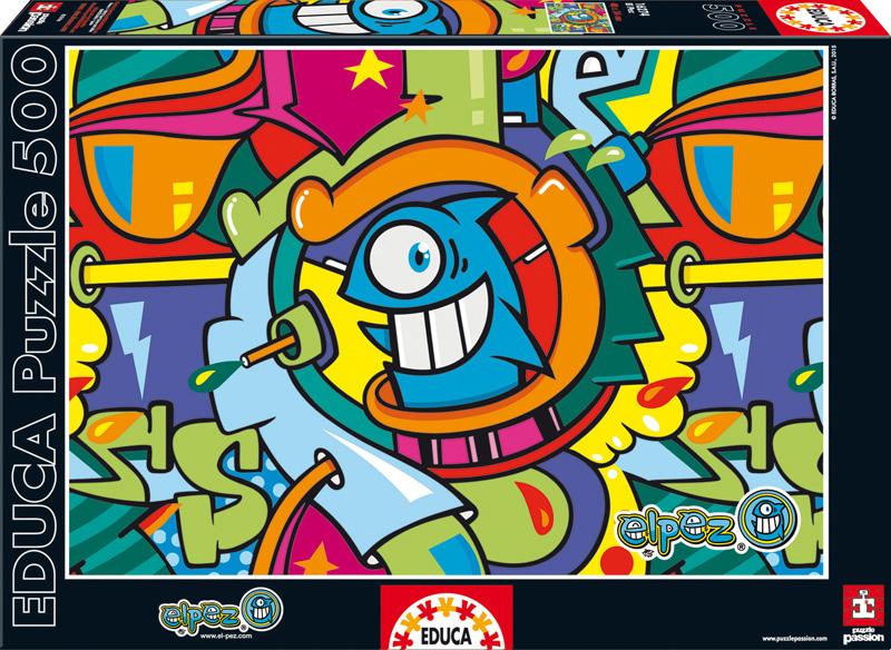 El Pez, Рыбка. Пазл, 500 элементов16274Пазл Educa Рыбка непременно придется по душе вам и вашему ребенку. Собрав этот пазл, включающий в себя 500 элементов, вы получите оригинальный постер с изображением улыбающейся рыбки, по мотивам граффити рисунков испанского уличного художника El Pez. Пазл выполнен из высококачественных материалов, что обеспечивает идеальное прилегание деталей. Кроме того, после сборки вы сможете склеить части мозаики. Клей FixPuzzle в комплекте. Компания Educa имеет уникальный сервис: бесплатная доставка в любую точку мира потерянной детали. Пазл - великолепная игра для семейного досуга. Сегодня собирание пазлов стало особенно популярным, главным образом, благодаря своей многообразной тематике, способной удовлетворить самый взыскательный вкус. А для детей это не только интересно, но и полезно. Собирание пазла развивает мелкую моторику у ребенка, тренирует наблюдательность, логическое мышление, знакомит с окружающим миром, с цветом и разнообразными формами.