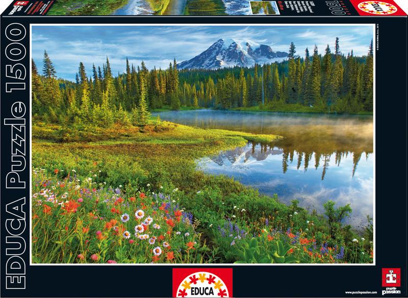 Национальный парк Маунт-Рейнир. Пазл, 1500 элементов16309Пазл Educa Национальный парк Маунт-Рейнир непременно придется по душе вам и вашему ребенку. Собрав этот пазл, включающий в себя 1500 элементов, вы получите оригинальный постер с красочным изображением Национального парка Маунт-Рейнир в США. Пазл выполнен из высококачественных материалов, что обеспечивает идеальное прилегание деталей. Кроме того, после сборки вы сможете склеить части мозаики. Клей FixPuzzle в комплекте. Компания Educa имеет уникальный сервис: бесплатная доставка в любую точку мира потерянной детали. Пазл - великолепная игра для семейного досуга. Сегодня собирание пазлов стало особенно популярным, главным образом, благодаря своей многообразной тематике, способной удовлетворить самый взыскательный вкус. А для детей это не только интересно, но и полезно. Собирание пазла развивает мелкую моторику у ребенка, тренирует наблюдательность, логическое мышление, знакомит с окружающим миром, с цветом и разнообразными формами.