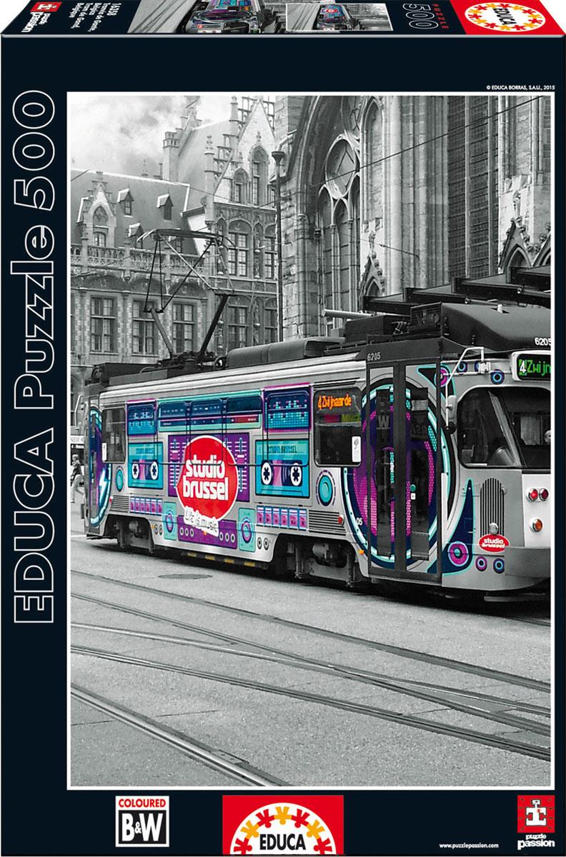 Трамвай в Генте, Бельгия. Пазл, 500 элементов16358Пазл Educa Трамвай в Генте непременно придется по душе вам и вашему ребенку. Собрав этот пазл, включающий в себя 500 элементов, вы получите оригинальный постер с черно-белым изображением трамвая. Пазл выполнен из высококачественных материалов, что обеспечивает идеальное прилегание деталей. Кроме того, после сборки вы сможете склеить части мозаики. Клей FixPuzzle в комплекте. Компания Educa имеет уникальный сервис: бесплатная доставка в любую точку мира потерянной детали. Пазл - великолепная игра для семейного досуга. Сегодня собирание пазлов стало особенно популярным, главным образом, благодаря своей многообразной тематике, способной удовлетворить самый взыскательный вкус. А для детей это не только интересно, но и полезно. Собирание пазла развивает мелкую моторику у ребенка, тренирует наблюдательность, логическое мышление, знакомит с окружающим миром, с цветом и разнообразными формами.