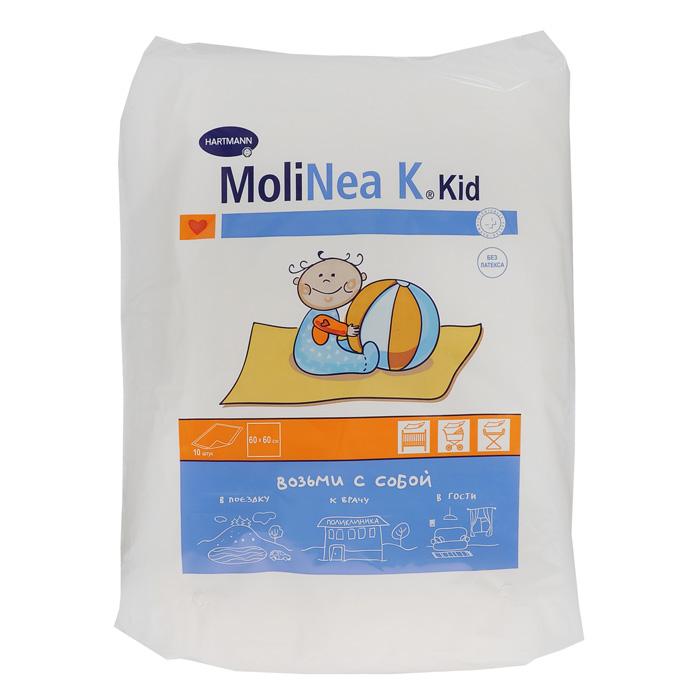 Hartmann Пеленки детские Мolinеа К, впитывающе, одноразовые, 60 х 60 см, 10 шт1598230Детские пеленки MoliNea Мolinеа К. Возьми с собой не скользят по поверхности и не создают складок. Запатентованная структура поверхности (прессованные дорожки) обеспечивает равномерное распределение жидкости. Нетканый материал, соприкасающийся с кожей, не вызывает аллергических реакций. Внутренний слой пеленки изготовлен из экологически чистой распушенной целлюлозы, отбеленной кислородом. Водонепроницаемая нескользящая пленка обеспечивает дополнительную защиту.