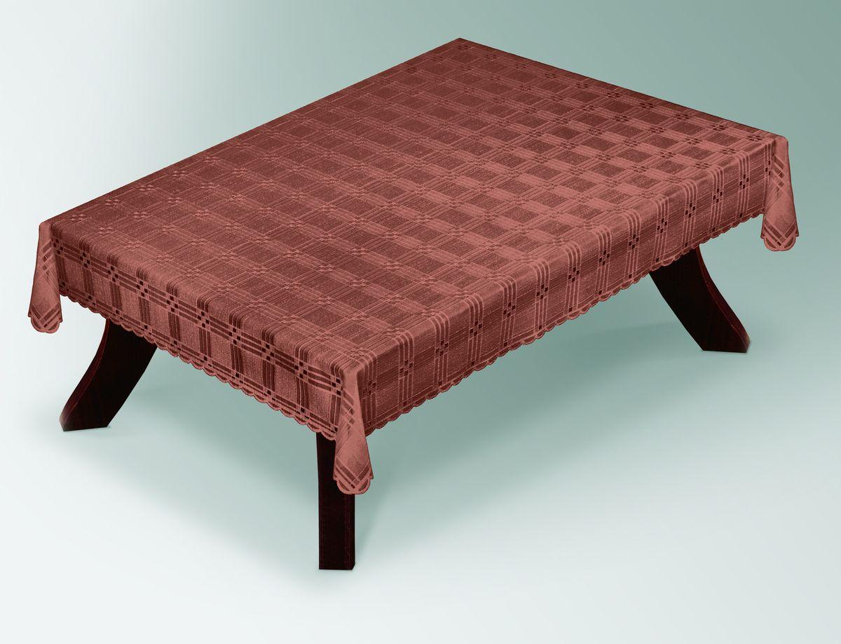 Скатерть Haft Gold Line, прямоугольная, цвет: шоколадный, 100 x 150 см. 203490/100203490/100 шоколадВеликолепная прямоугольная скатерть Haft Gold Line, выполненная из полиэстера, органично впишется в интерьер любого помещения, а оригинальный дизайн удовлетворит даже самый изысканный вкус. Скатерть изготовлена из сетчатого материала с ажурным геометрическим рисунком. Края скатерти ажурные. Скатерть Haft Gold Line создаст праздничное настроение и станет прекрасным дополнением интерьера гостиной, кухни или столовой.