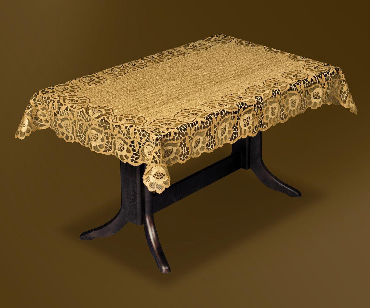 Скатерть Haft Gold Line, прямоугольная, цвет: бронзовый, 120 x 160 см. 206840-120206840-120 бронзаВеликолепная прямоугольная скатерть Haft Gold Line, выполненная из полиэстера, органично впишется в интерьер любого помещения, а оригинальный дизайн удовлетворит даже самый изысканный вкус. Скатерть изготовлена из сетчатого материала с ажурным цветочным рисунком по краям. Края скатерти ажурные. Скатерть Haft Gold Line создаст праздничное настроение и станет прекрасным дополнением интерьера гостиной, кухни или столовой.
