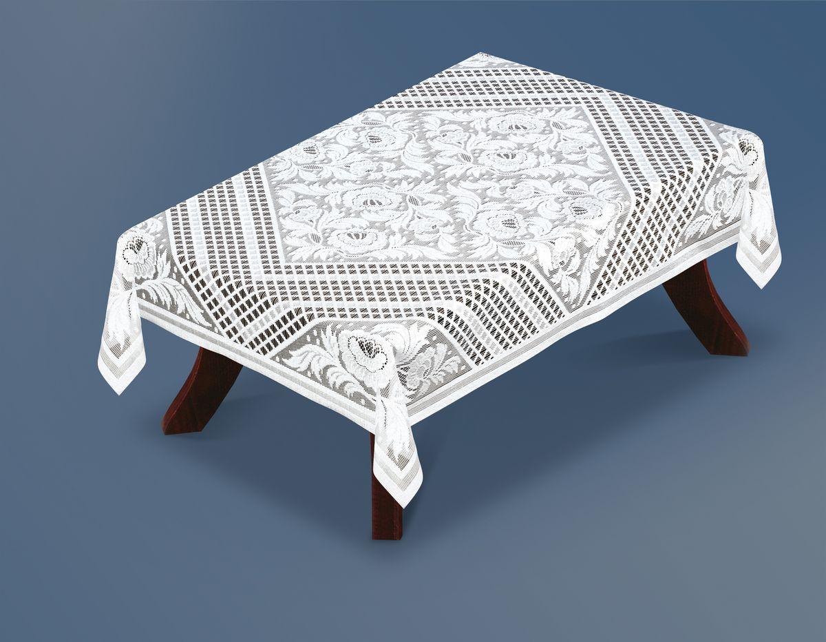 Скатерть Haft Silver Line, прямоугольная, цвет: белый, 130 x 180 см. 221330/130221330/130Великолепная прямоугольная скатерть Haft Silver Line, выполненная из полиэстера, органично впишется в интерьер любого помещения, а оригинальный дизайн удовлетворит даже самый изысканный вкус. Скатерть изготовлена из сетчатого материала с ажурным цветочным рисунком. Скатерть Haft Silver Line создаст праздничное настроение и станет прекрасным дополнением интерьера гостиной, кухни или столовой.