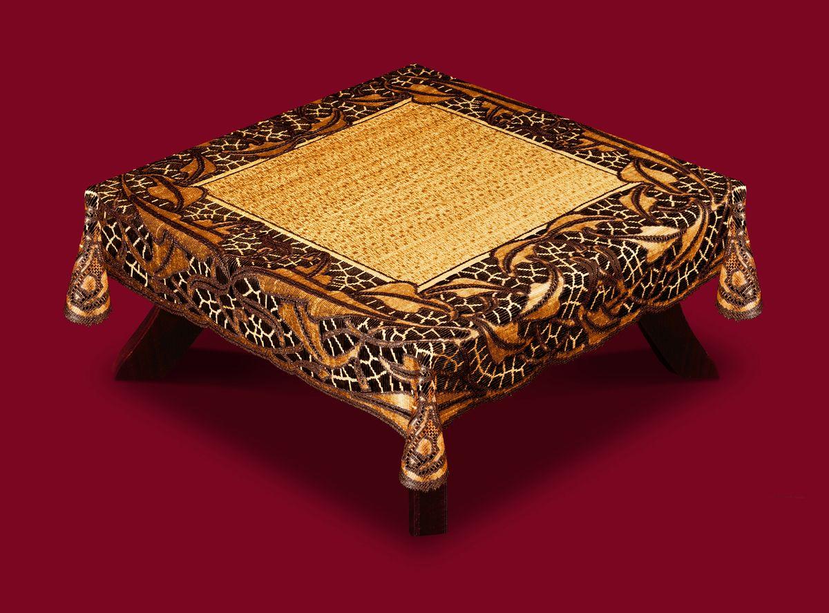 Скатерть Haft, квадратная, цвет: кофейный, коричневый, 100 x 100 см. 50912-10050912-100 коричн.Великолепная прямоугольная скатерть Haft, выполненная из полиэстера, органично впишется в интерьер любого помещения, а оригинальный дизайн удовлетворит даже самый изысканный вкус. Скатерть изготовлена из сетчатого материала с ажурным рисунком по краям. Скатерть Haft создаст праздничное настроение и станет прекрасным дополнением интерьера гостиной, кухни или столовой.