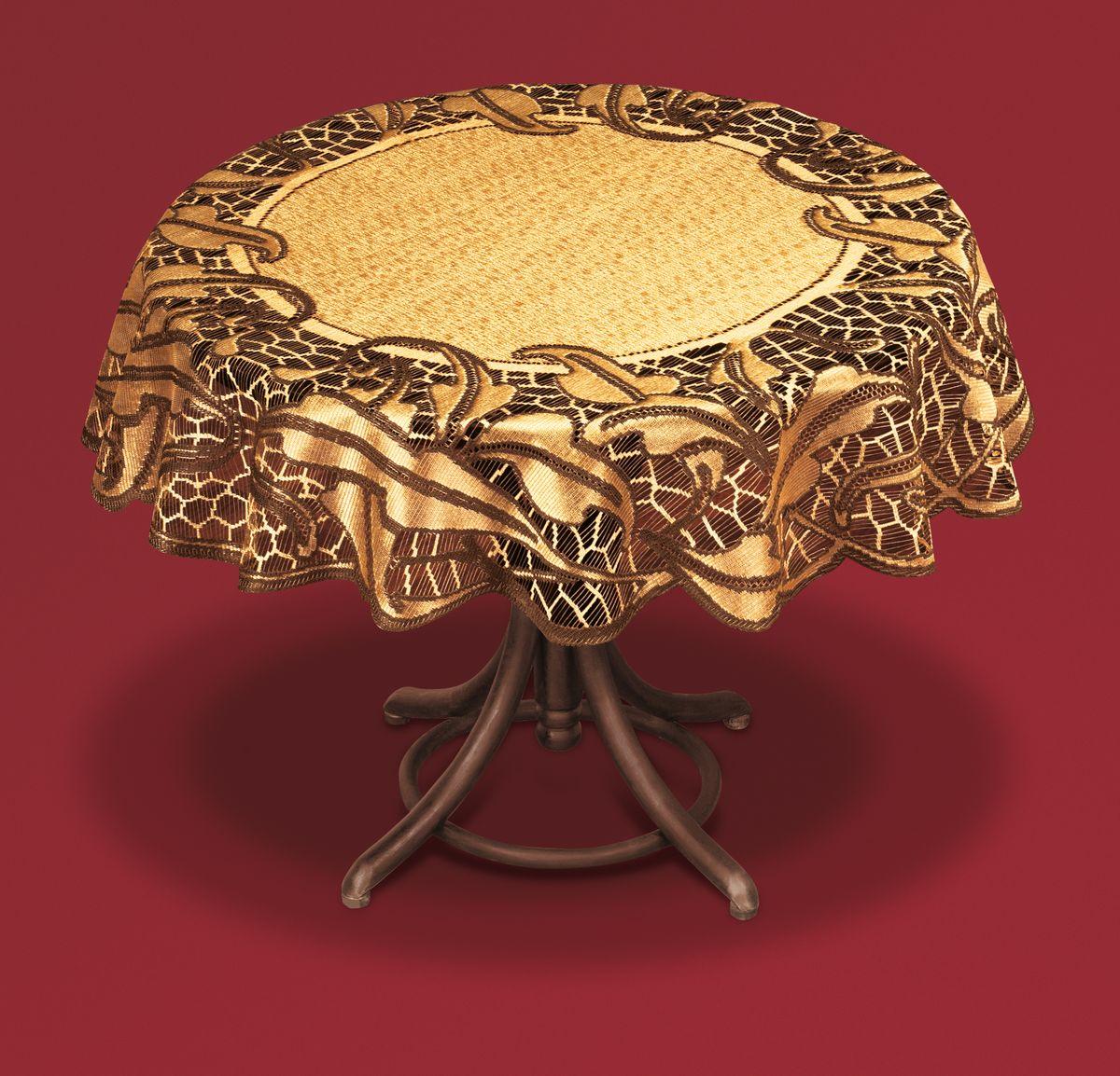Скатерть Haft, цвет: кофейный, коричневый, диаметр 100 см. 50913-10050913-100 коричн.Великолепная круглая скатерть Haft, выполненная из полиэстера, органично впишется в интерьер любого помещения, а оригинальный дизайн удовлетворит даже самый изысканный вкус. Скатерть изготовлена из сетчатого материала с ажурным рисунком по краям. Края скатерти ажурные. Скатерть Haft создаст праздничное настроение и станет прекрасным дополнением интерьера гостиной, кухни или столовой. Диаметр скатерти: 100 см.