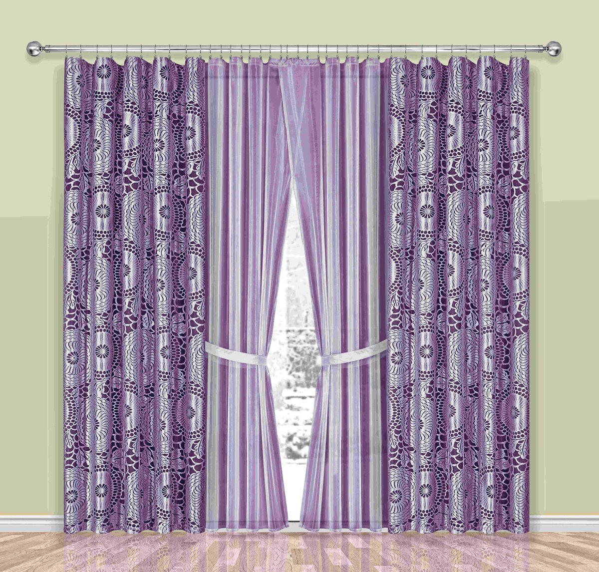 Комплект штор Wisan Sasza, на ленте, цвет: лиловый, высота 250 см190WКомплект штор Wisan Sasza выполненный из полиэстера, великолепно украсит любое окно. В комплект входят 2 шторы, тюль и 2 подхвата. Интересный крой, и цветочный узор придают комплекту особый стиль и шарм. Тонкое плетение, нежная цветовая гамма и роскошное исполнение - все это делает шторы Wisan Sasza замечательным дополнением интерьера помещения. Комплект оснащен шторной лентой для красивой сборки. В комплект входит: Штора - 2 шт. Размер (ШхВ): 150 см х 250 см. Тюль - 2 шт. Размер (ШхВ): 250 см х 250 см. Подхват - 2 шт. Фирма Wisan на польском рынке существует уже более пятидесяти лет и является одной из лучших польских фабрик по производству штор и тканей. Ассортимент фирмы представлен готовыми комплектами штор для гостиной, детской, кухни, а также текстилем для кухни (скатерти, салфетки, дорожки, кухонные занавески). Модельный ряд отличает оригинальный дизайн, высокое качество. Ассортимент продукции постоянно...