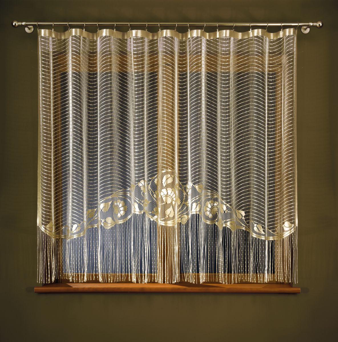 Гардина Wisan Ksenia, цвет: бежевый, высота 170 см257АГардина Wisan Ksenia, изготовлена из полиэстера, легкой, тонкой ткани. Изделие оформлено бахромой и цветочным рисунком. Тонкое плетение и оригинальный дизайн привлекут к себе внимание и органично впишутся в интерьер комнаты. Оригинальное оформление гардины внесет разнообразие и подарит заряд положительного настроения. Гардина не оснащена креплениями.