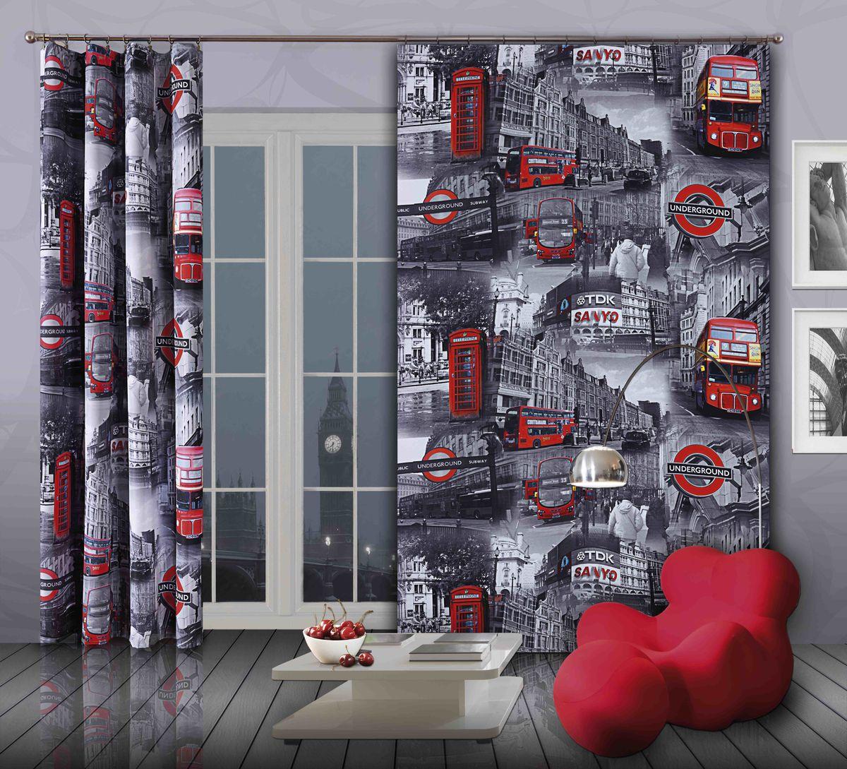 Комплект гардин-панно Wisan Bus, на ленте, цвет: серый, красный, высота 250 см268WКомплект гардин-панно Wisan Bus, изготовленный из полиэстера, станет великолепным украшением любого окна. В комплект входят 2 плотные гардины с изображением знаменитых лондонских автобусов. Качественный материал, оригинальный дизайн и приятная цветовая гамма привлекут к себе внимание и органично впишутся в интерьер. Комплект оснащен шторной лентой для красивой сборки. Размер гардин-панно: 150 см х 250 см. Фирма Wisan на польском рынке существует уже более пятидесяти лет и является одной из лучших польских фабрик по производству штор и тканей. Ассортимент фирмы представлен готовыми комплектами штор для гостиной, детской, кухни, а также текстилем для кухни (скатерти, салфетки, дорожки, кухонные занавески). Модельный ряд отличает оригинальный дизайн, высокое качество. Ассортимент продукции постоянно пополняется.