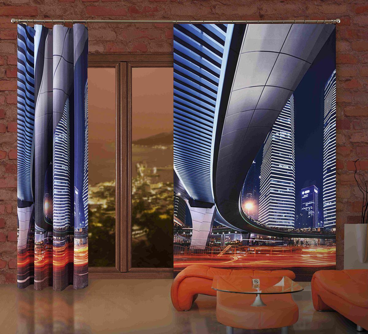 Комплект гардин-панно Wisan Miasto, на ленте, цвет: синий, высота 250 см270WКомплект гардин-панно Wisan Miasto, изготовленный из полиэстера, станет великолепным украшением любого окна. В комплект входят 2 плотные гардины с изображением ночной магистрали. Качественный материал, оригинальный дизайн и приятная цветовая гамма привлекут к себе внимание и органично впишутся в интерьер. Комплект оснащен шторной лентой для красивой сборки. Размер гардин-панно: 150 см х 250 см. Фирма Wisan на польском рынке существует уже более пятидесяти лет и является одной из лучших польских фабрик по производству штор и тканей. Ассортимент фирмы представлен готовыми комплектами штор для гостиной, детской, кухни, а также текстилем для кухни (скатерти, салфетки, дорожки, кухонные занавески). Модельный ряд отличает оригинальный дизайн, высокое качество. Ассортимент продукции постоянно пополняется.