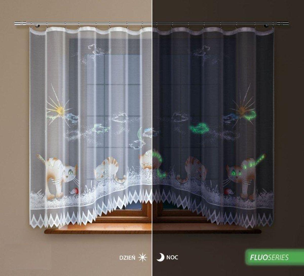 Гардина Haft Silver Line, флуоресцентная, цвет: белый, высота 160 см. 218440/160218440/160Гардина Haft Silver Line изготовлена из полиэстера. Изделие выполнено из сетчатого материала и украшено рисунком ручной раскраски, который светится ночью. Оригинальный дизайн и приятная цветовая гамма привлекут к себе внимание и органично впишутся в интерьер кухни. Оригинальное оформление гардины внесет разнообразие и подарит заряд положительного настроения. Гардина оснащена шторной лентой для красивой сборки. Размер гардины: 300 см х 160 см. Главный ассортимент компании Haft - это тюль и занавески. Haft предлагает готовые решения для ваших окон, выпуская готовые наборы штор, которые остается только распаковать и повесить. Модельный ряд отличает оригинальный дизайн, высокое качество. Занавески, шторы, гардины Haft долговечны, прочны, практически не сминаемы, они не притягивают пыль и за ними легко ухаживать. Вся продукция бренда Haft выполнена на современном оборудовании из лучших материалов.