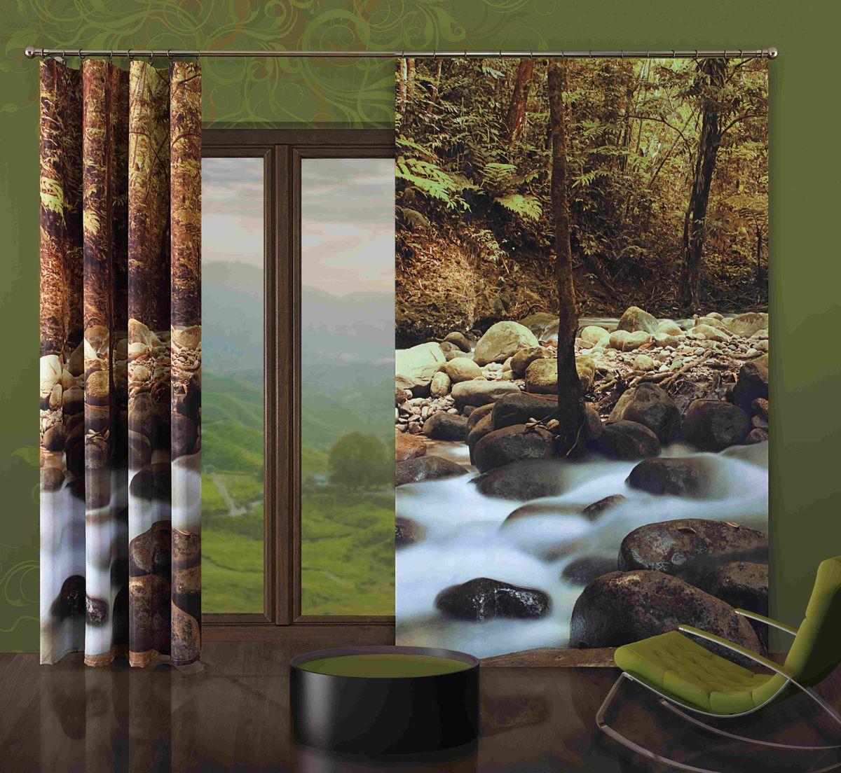 Комплект гардин-панно Wisan Kamienie, на ленте, цвет: коричневый, серый, высота 250 см271WКомплект гардин-панно Wisan Kamienie, изготовленный из полиэстера, станет великолепным украшением любого окна. В комплект входят 2 плотные гардины с изображением камней и леса. Качественный материал, оригинальный дизайн и приятная цветовая гамма привлекут к себе внимание и органично впишутся в интерьер. Комплект оснащен шторной лентой для красивой сборки. В комплект входит: Гардин-панно - 2 шт. Размер (ШхВ): 150 см х 250 см. Фирма Wisan на польском рынке существует уже более пятидесяти лет и является одной из лучших польских фабрик по производству штор и тканей. Ассортимент фирмы представлен готовыми комплектами штор для гостиной, детской, кухни, а также текстилем для кухни (скатерти, салфетки, дорожки, кухонные занавески). Модельный ряд отличает оригинальный дизайн, высокое качество. Ассортимент продукции постоянно пополняется.