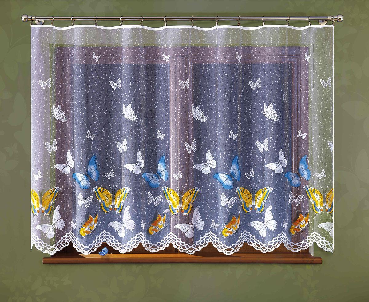 Гардина Wisan Motyle, цвет: белый, высота 150 см307ЕГардина Wisan Motyle великолепно украсит любое окно в гостиной, спальне или на кухне. Изделие выполнено из полиэстера и украшено изящным изображением разноцветных бабочек. Тонкое плетение, нежная цветовая гамма и роскошное исполнение - все это делает гардину Wisan Motyle замечательным дополнением интерьера комнаты. В комплект входит: Гардина - 1 шт. Размер (ШхВ): 300 см х 150 см.