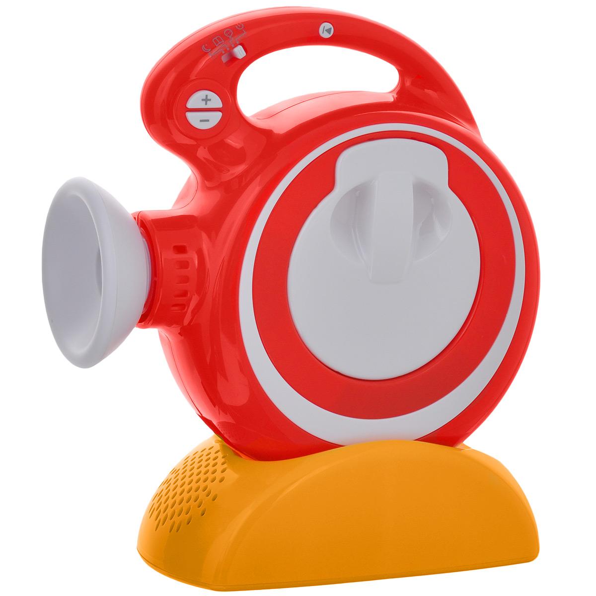 Звуковой диапроектор Светлячок, мини123-СВ-230514-00ПМС помощью диапроектора Светлячок можно не только смотреть сказку, но и слушать ее! Диапроектор выполнен из безопасного пластика красного и белого цветов с желтой отсоединяющейся подставкой и чрезвычайно прост в использовании. Благодаря подставке можно изменять угол наклона устройства. Вставьте в диапроектор картридж с диафильмом, направьте устройство на стену или потолок и наслаждайтесь любимыми историями! Диапроектор оборудован регулятором резкости изображения и имеет три режима воспроизведения: автоматический, ручной и ручной без звука. Комплект включает в себя диапроектор с подставкой и инструкцию по эксплуатации на русском языке. Диафильмы способствуют развитию у детей речи, воображения, образного мышления, памяти, воспитывают интерес к чтению, создают семейную атмосферу. Фильм и книга в комплект не входят, приобретаются отдельно. Необходимо докупить 7 батареек типа АА (не входят в комплект).