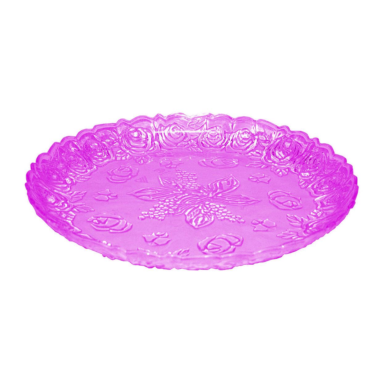 Поднос Альтернатива Изобилие, цвет: фиолетовый, диаметр 35 смМ554Поднос Альтернатива Изобилие, выполненный из пластика, станет незаменимым предметом для сервировки стола. Внешние стенки подноса оформлены объемным узоров в виде цветов. Края подноса фигурные. Красочный дизайн подноса придаст оригинальность и яркость любой кухне или столовой. Поднос уместит на себе достаточно много продуктов и предохранит поверхность стола от грязи и перегрева. Можно мыть в посудомоечной машине. Диаметр подноса: 35 см. Высота стенки подноса: 4 см.