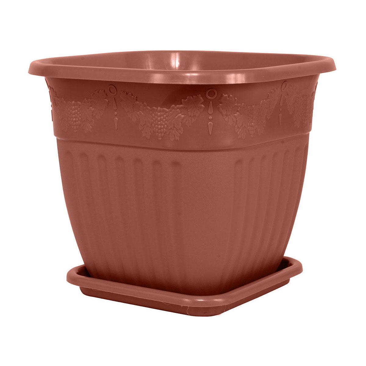 Горшок-кашпо Альтернатива Лозанна, цвет: медный, 3 лМ1464Горшок-кашпо для цветов Альтернатива Лозанна выполнен из прочного пластика. Изделие предназначено для установки внутрь цветочных горшков с растениями. Такие изделия часто становятся последним штрихом, который совершенно изменяет интерьер помещения или ландшафтный дизайн сада. Благодаря такому горшку-кашпо вы сможете украсить вашу комнату, офис, сад и другие места.