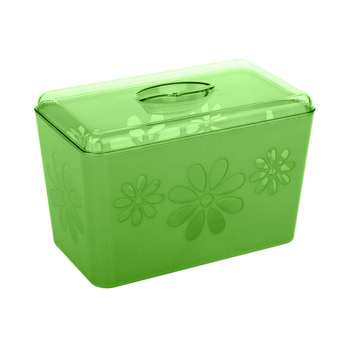"Хлебница Альтернатива ""Соблазн"", цвет: зеленый, 24 см х 14 см х 14,5 см"