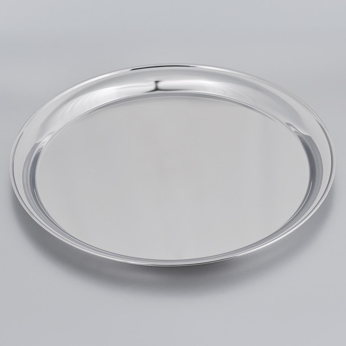 Поднос Tramontina, круглый, диаметр 40 см61413/400-TRКруглый поднос Tramontina, изготовленный из нержавеющей стали с зеркальной полировкой, станет незаменимым предметом для сервировки стола. Поднос предназначен для подачи блюд. Современный стильный дизайн и функциональность позволят подносу занять достойное место на вашей кухне.