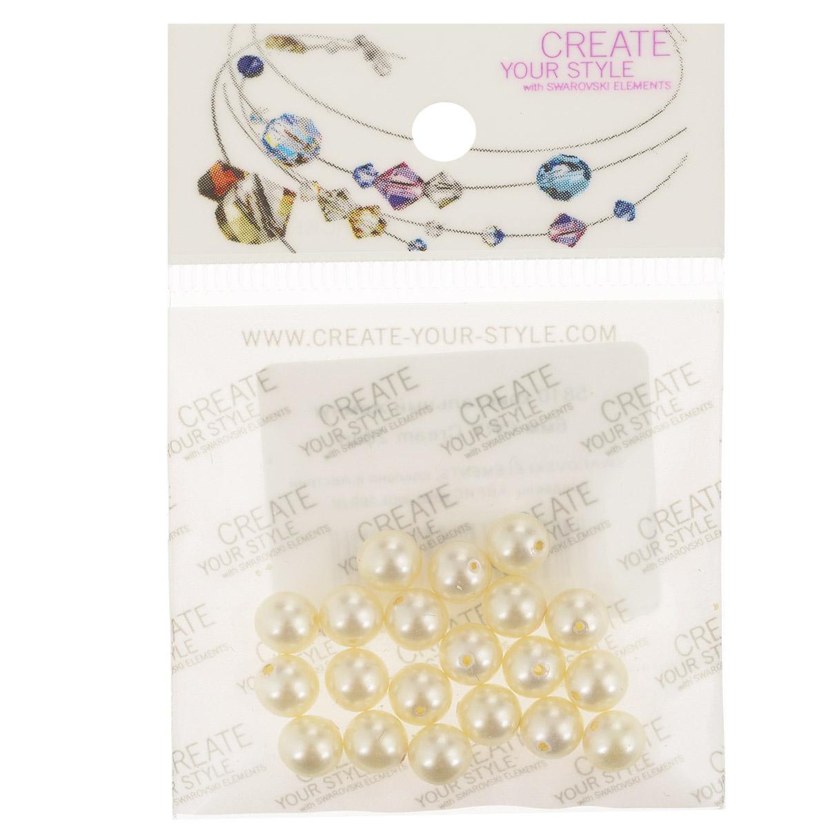 Бусины Swarovski Elements Кристальный жемчуг, цвет: кремовый, диаметр 6 мм, 20 шт