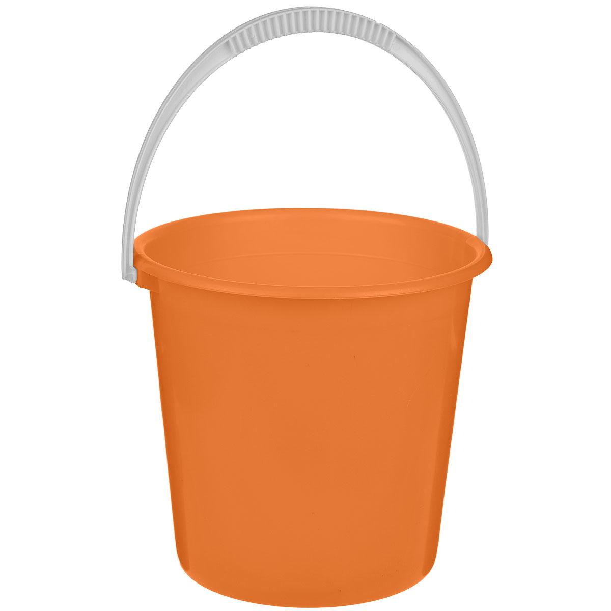Ведро Альтернатива Крепыш, цвет: оранжевый, 10 лК117Ведро Альтернатива Крепыш изготовлено из высококачественного одноцветного пластика. Оно легче железного и не подвержено коррозии. Ведро оснащено удобной пластиковой ручкой. Такое ведро станет незаменимым помощником в хозяйстве. Диаметр: 28 см. Высота: 27 см.
