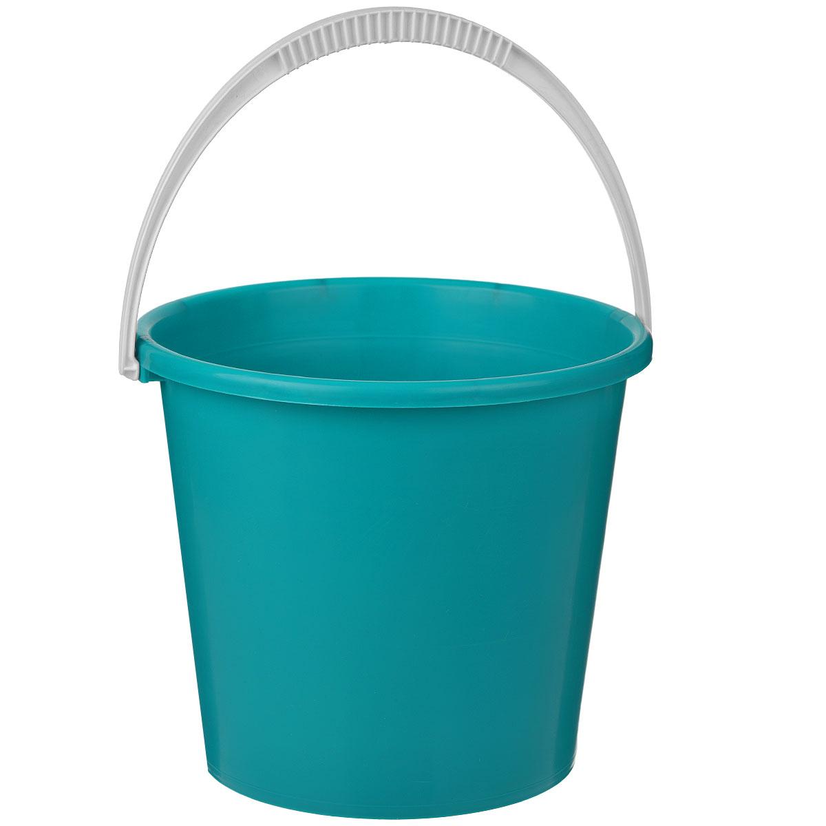 Ведро Альтернатива Крепыш, цвет: зеленый, 7 лК342Ведро Альтернатива Крепыш изготовлено из высококачественного одноцветного пластика. Оно легче железного и не подвержено коррозии. Ведро оснащено удобной пластиковой ручкой. Такое ведро станет незаменимым помощником в хозяйстве. Размер: 25 см x 25 см x 22 см.