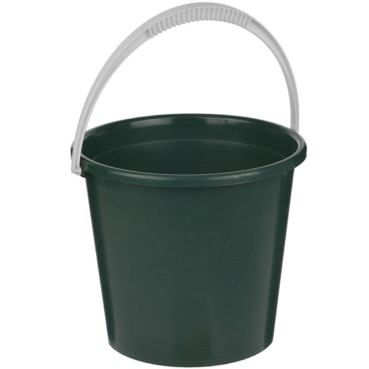 Ведро Альтернатива, цвет: темно-зеленый, 7 лМ1079Ведро Альтернатива изготовлено из высококачественного одноцветного пластика. Оно легче железного и не подвержено коррозии. Ведро оснащено удобной пластиковой ручкой. Такое ведро станет незаменимым помощником в хозяйстве. Размер: 25 см x 25 см x 22 см.