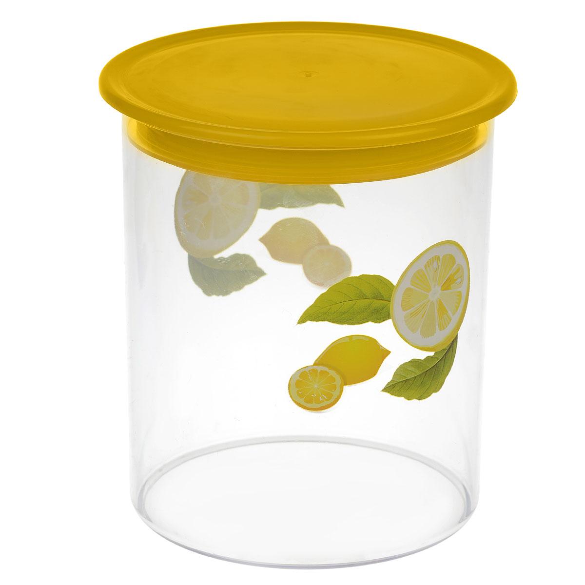 Емкость Альтернатива Экзотика, цвет: желтый, 2,5 лM602Емкость Альтернатива Экзотика предназначена для хранения сыпучих продуктов или жидкостей. Выполнена из высококачественного пластика. Оснащена крышкой.