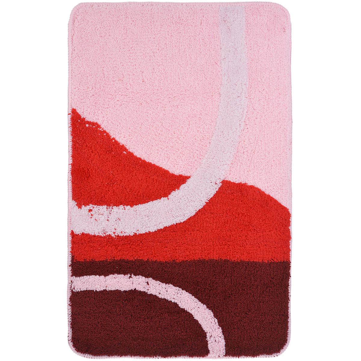 Коврик для ванной комнаты Fresh Code, цвет: розовый, 80 х 50 см54930Коврик для ванной Fresh Code изготовлен из 100% акрила с латексной основой. Коврик, украшенный ярким цветным рисунком, создаст уют и комфорт в ванной комнате. Длинный ворс мягко соприкасается с кожей стоп, вызывая только приятные ощущения. Рекомендации по уходу: - стирать в ручном режиме, - не использовать отбеливатели, - не гладить, - не подходит для сухой чистки (химчистки).