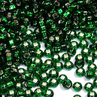 Бисер прозрачный Preciosa, с серебристой серединой, цвет: темно-зеленый (57060), размер 10/0, 50 г172073Прозрачный бисер Preciosa, изготовленный из стекла круглой формы с среребристой серединой, позволит вам своими руками создать оригинальные ожерелья, бусы или браслеты, а также заняться вышиванием. В бисероплетении часто используют бисер разных размеров и цветов. Он идеально подойдет для вышивания на предметах быта и женской одежде. Изготовление украшений - занимательное хобби и реализация творческих способностей рукодельницы, это возможность создания неповторимого индивидуального подарка.