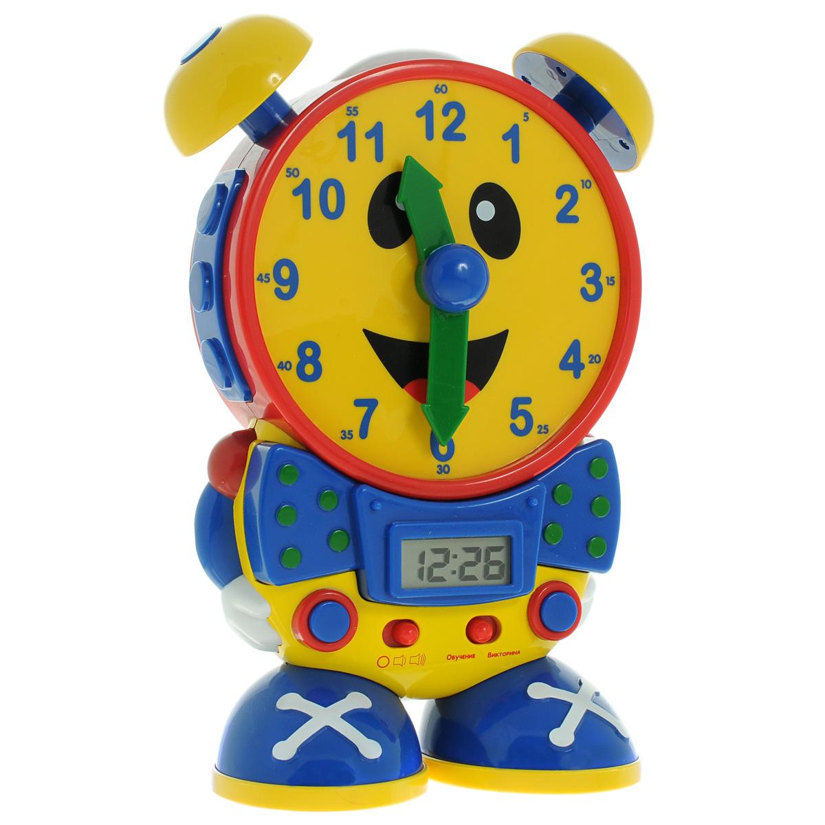 Развивающая игрушка Learning Journey Мои первые часы, с электронными часами75418Развивающая игрушка Learning Journey Мои первые часы - это веселая и полезная игрушка для малыша. Благодаря ей малыш сможет научиться определять время по циферблату, а еще она станет прекрасным ночником для детской комнаты и электронными часами. Игрушка выполнена из яркого пластика в виде веселых улыбающихся часиков. Предусмотрено 2 режима. Первый режим - Обучение. Этот режим научит вашего ребенка правильно говорить время. Передвиньте стрелки часов в любое положение, и часы озвучат выбранное время. Минутную стрелку можно передвигать только с 5-минутным интервалом. Второй режим - викторина. В режиме викторины ребенку предстоит правильно выставлять стрелки циферблата часов согласно времени, показанному на электронных часах. После включения режима викторины последует серия случайных вопросов. Для ответа на поставленный вопрос необходимо перевести стрелки циферблата согласно времени указанному в вопросе на цифровом дисплее. Далее устройство подтвердит, правильно ли введен...