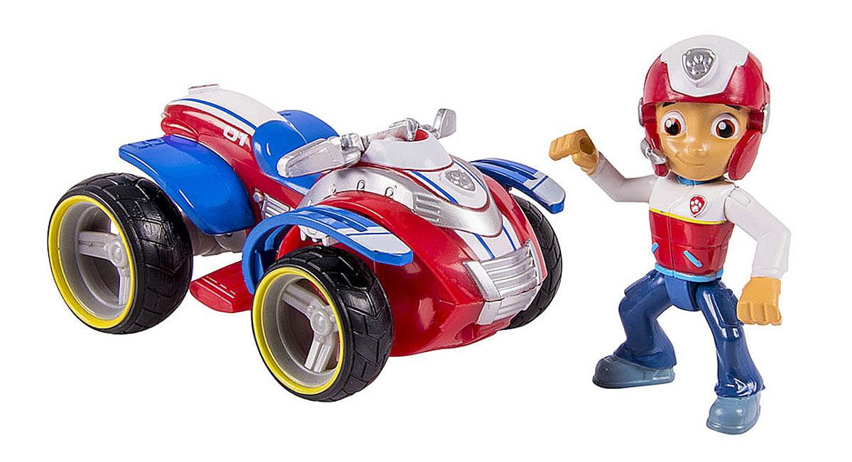 Paw Patrol Игрушка Квадроцикл Райдера16601 RyderИгрушка Paw Patrol Квадроцикл и фигурка спасателя Райдера непременно порадует малыша. Квадроцикл с героем популярного анимационного мультфильма выполнен из высококачественной пластмассы и раскрашен яркими безопасными красками. Квадроцикл имеет подвижные прорезиненные колеса. У фигурки спасателя подвижна голова и конечности. Ваш малыш сможет часами играть с этим замечательным набором, выдумывая различные интересные истории. Такие игры развивают мелкую моторику, социальные навыки и воображение. Порадуйте свою малышку таким замечательным подарком!