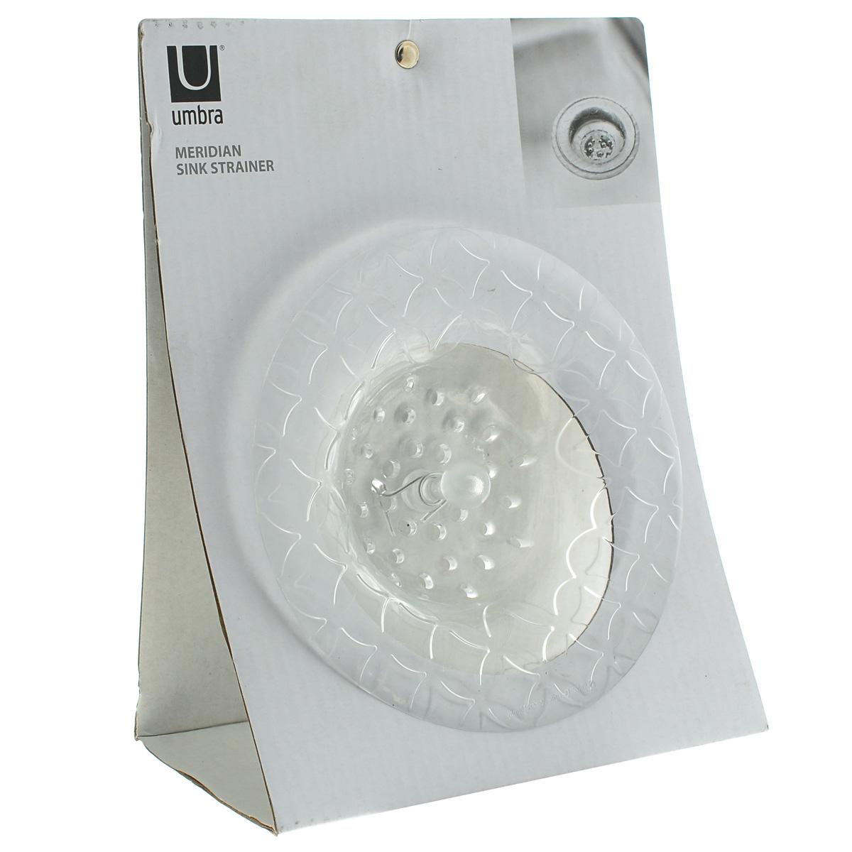 Фильтр для раковины Umbra Meridian, цвет: прозрачный, диаметр 7,5 см330887-165Фильтр Umbra Meridian, выполненный из силикона, используется для улавливания нечистот в раковинах и ванных, предотвращает забивание канализационных труб остатками еды. Фильтр имеет специальное углубление для раковины. Изделие поможет предотвратить засорение вашей раковины. Диаметр: 7,5 см.