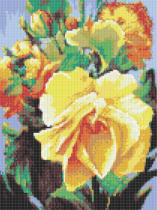 Набор для творчества Алмазная мозаика. Роза, 30 см х 40 см609-RS-R РозаНабор для творчества Алмазная мозаика. Роза поможет вам создать свой личный шедевр - красивую картину, выполненную в мозаичной технике. Каждый камушек выполнен из прочного материала, огранен по типу драгоценных камней и при попадании на грани солнечного или искусственного света образуется мерцающее полотно. Мозаичные картины - это новый вид творчества, который поможет создать прекрасное украшение для вашего дома. В наборе имеется холст с нанесенной схемой. С помощью пинцета стразы размещаются на холст. В результате проявляется рисунок. Для создания картины нужно лишь выложить мозаику по схеме. Вы получите огромное наслаждение от творчества. Автор: Антон Горцевич. В набор входит: - основа картины, - холст на подрамнике со схемой, - крепления для подвешивания, - комплект искусственных камней, диаметр 2,8 мм, 18 цветов, - пинцет, - пластмассовый лоток для камней, - пластмассовый карандаш для камней, -...