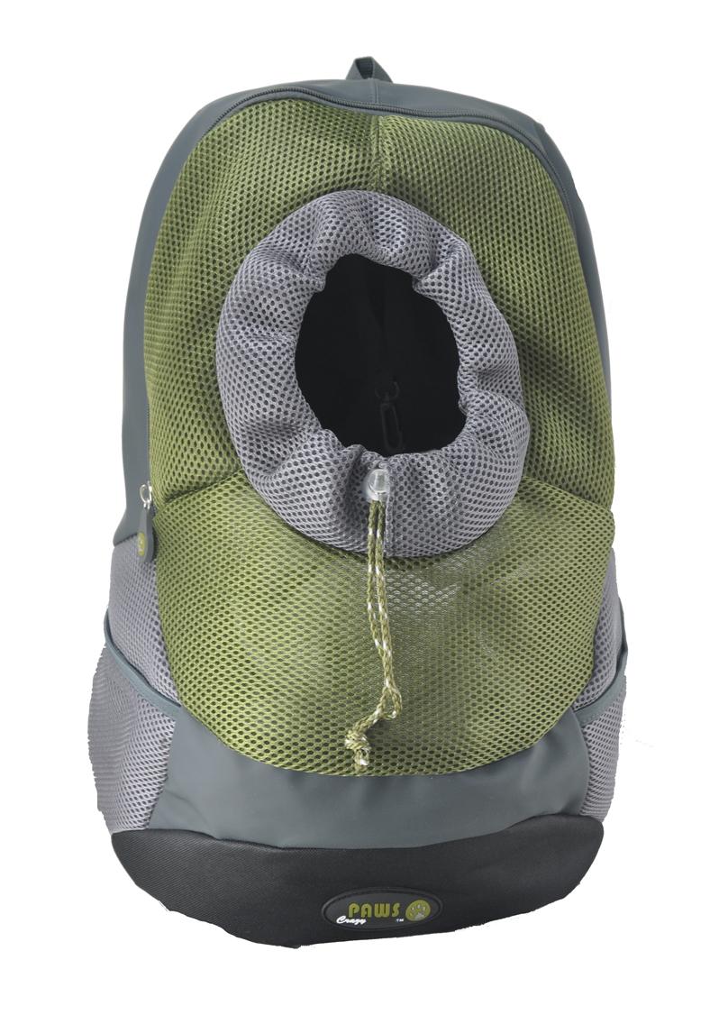 Переноска-рюкзак Crazy Paws для собак и кошек, цвет: оливковый. Размер XLargeDPETC036-OLПереноска-рюкзак Crazy Paws прекрасно подойдет для кошек и собак мелких пород весом до 8 кг. Она изготовлена из высокотехнологичных материалов наивысшего качества, которые безопасны для животных и их владельцев. В такой переноске нет кривых швов и торчащих ниток, так как все элементы максимально точно подогнаны друг к другу. Вашему питомцу будет комфортно. Переноска Crazy Paws серии Pet Sling - это новейшее решение для переноски мелких домашних животных. Рюкзак позволит вам освободить свои руки и снять нагрузку со спинных мышц за счет правильного распределения веса собаки на ваши плечи. При этом животное будет находиться в удобном для него положении и комфортном состоянии за счет хорошей вентиляции. Этот вид переноски абсолютно безопасен и даже полезен для вас и для вашего любимца, за счет специальной анатомической формы рюкзака у животного снимается нагрузка с позвоночника. Животное надежно зафиксировано вшитым карабином за ошейник, а также специальным регулируемым...