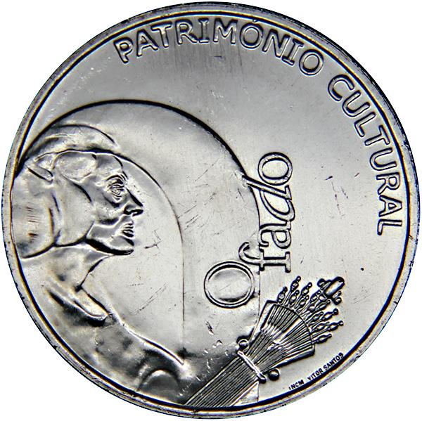 Монета номиналом 2,5 евро Шестиструнная гитара фаду. Португалия, 2008 годK421306Металл: Cu-Ni Диаметр: 28 мм Масса: 10,0 г Состояние: UNC (без обращения).