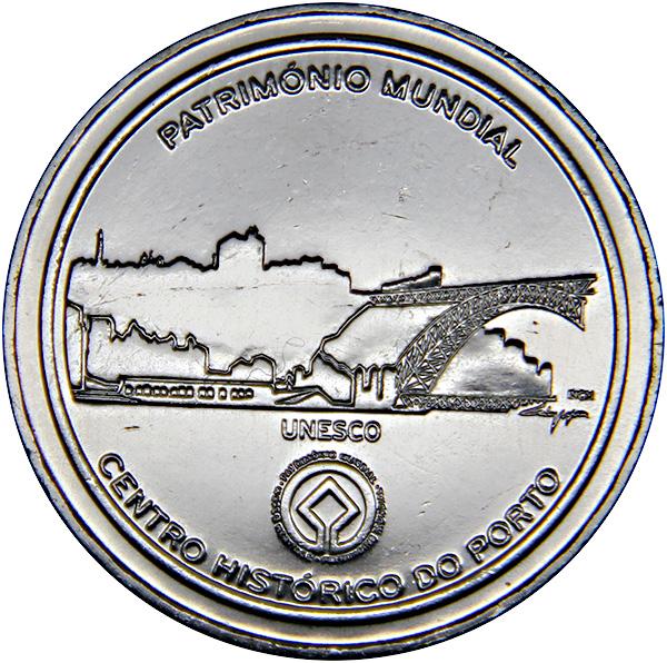 Монета номиналом 2,5 евро Исторический центр г. Порту. Португалия, 2008 годK421306Металл: Cu-Ni Диаметр: 28 мм Масса: 10,0 г Состояние: UNC (без обращения).