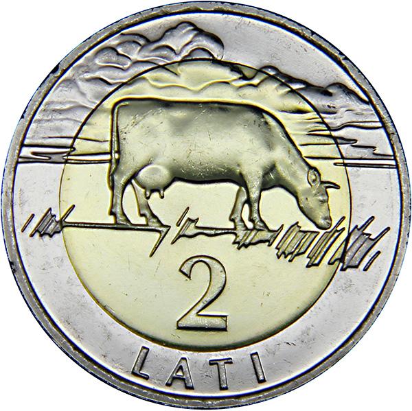 Монета номиналом 2 лата Корова. Латвия, 2009 годK421306Металл: биметалл Диаметр: 26 мм Масса: 9,5 г Состояние: UNC (без обращения).