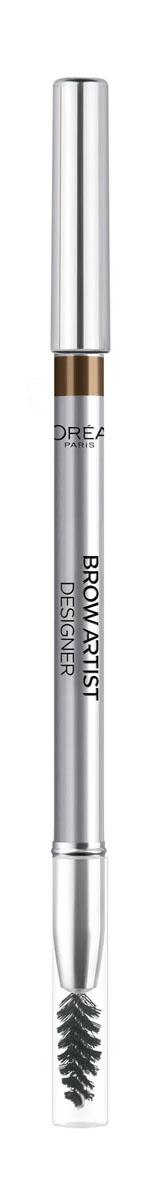 LOreal Paris Карандаш для бровей Brow Artist, оттенок 303, темно-коричневый, 5 гA6506103Карандаш для бровей Color Riche равномерно прокрашивает и моделирует форму бровей благодаря встроенной мягкой щеточке. Придайте взгляду характер!