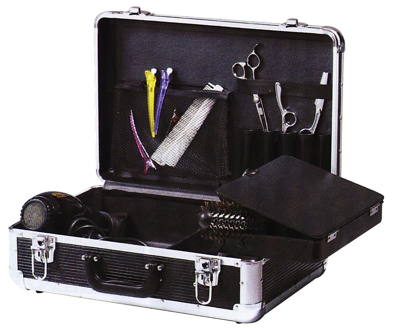 Dewal Чемодан для парикмахерских инструментов, цвет: черный. HV011AHV011AЧемодан для парикмахерских инструментов DEWAL HV011A предназначен как для хранения, так и для комфортной переноски хрупких профессиональных принадлежностей. Надежный и практичный чемодан для инструментов – необходимый атрибут каждого мастера, ценящего комфорт и непринужденность в работе. Стильный чемодан для DEWAL выполнен в оригинальной форме, имеет одно вместительное отделение, множество карманов и спциальную вставку. для мелких инструментов парикмахера. Чемодан изготовлен из пластика с алюминиевыми вставками.Он хорошо и надежжно защитит инструменты от ударов и повреждений. Цена этого чемодана не из бюджетных, но качество и комфорт этого стоит.
